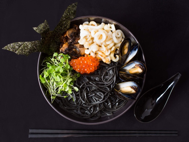 Squid ink ramen