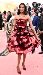 Jourdan Dunn Zac Posen x GE Labs x ProtoLabs (with 3D printed flower petals) gown; Jacob & Co. Jewelry