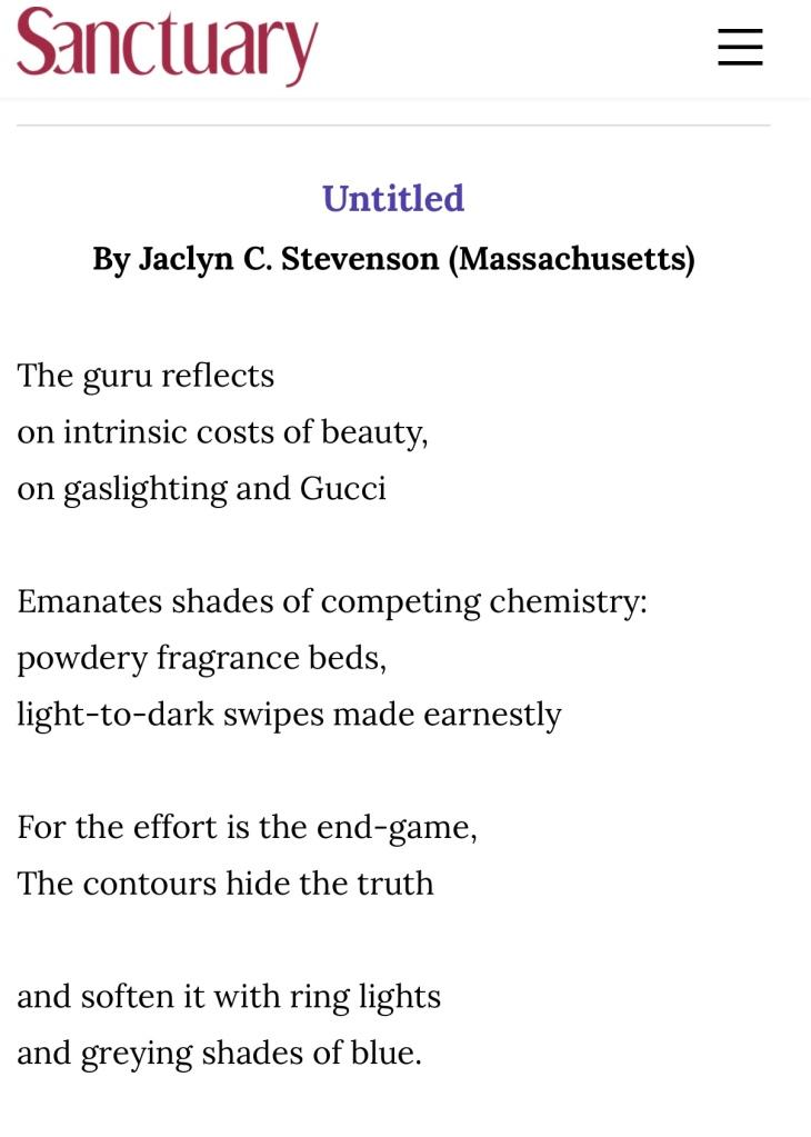 Screenshot of a poem